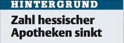 Hintergrund: Zahl hessischer Apotheken sinkt